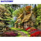 Green House DIY Painting By Number Landscape Modern Wall Art Picture Calligraphy