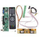 V56 Universal TV LCD Driver Board PC / VGA / HD / USB Interface + 4 Lamp Inverte