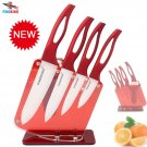 """Beauty Gifts Zirconia red handle Ceramic Knife with holder kitchen Set 3"""" 4"""" 5"""""""