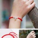 925 Sterling Silver Beads Shamballa Bracelet Red  Rope Lucky Bangle Charm Bracel