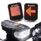 XANES 600LM German Standard Bike Front Light 64 LED Intelligent Brake Warning Bi