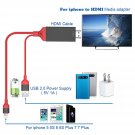 2m HD 1080P 8 Pin to HDMI Cable HDTV AV Adapter Plug and Play for iphone 7 7plus