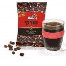 Premium Black Turkish Coffee Elite Ground Kosher Israeli 100gr Aroma Dark Mud