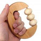 Handheld Rotation Wooden Ball Rolling Massage Body Arm Waist Roller Massager