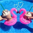 Cute Pool Float Flamingo Inflatable Cup Coke Drink Pink Holder Bath Sunnylife