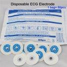 50PCS ECG Disposable Conductive Electrode Pads Replacement EKG Self Adhesive