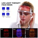 3 Color Lights LED Photon Therapy Mask Facial Mask For Anti-aging Acne Treatment