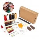 Hand Sewing Leather Stitching Craft Tools Kit Set Tool Stamping Awl Thread Waxed