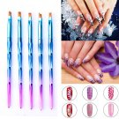 Acrylic Nail Art Pen Tips UV Builder Gel Painting Brush Manicure Set Hot 8Pcs