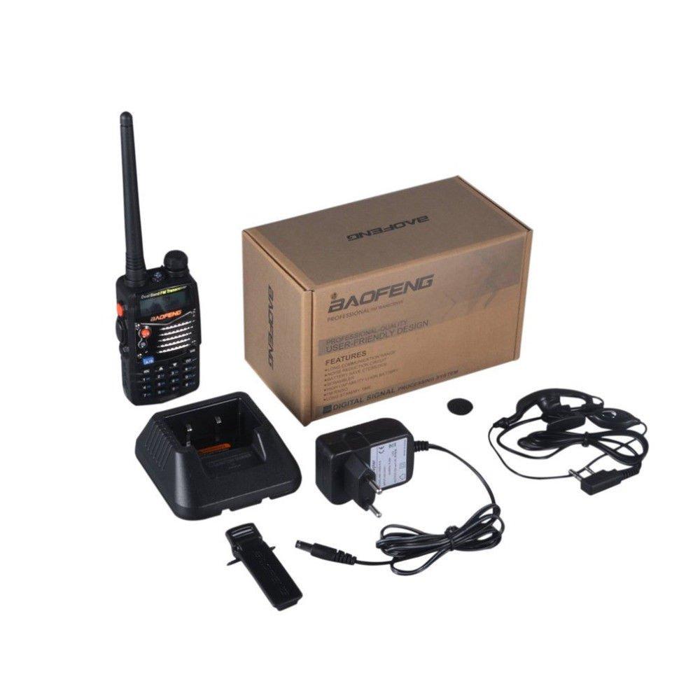 Radio Scanner Handheld Transceiver FM Radio Receiver Walkie Talkie Dual Band NEW