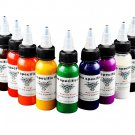 Professional Tattoo Ink 30ml/bottle Pigment High Quality Body Tattoo Art 9Colors