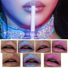 Newest Holographic Lipgloss Metallic Diamond Lip Gloss Waterproof Lasting Matter