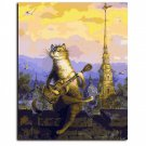 Cartoon Cat Framed Wall Pictures Painting By Numbers Home Decor Hand Painting