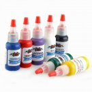 7 Color Tattoo Ink Pigment Supplies Kit 15ml 1/2 oz Ounce