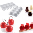 Baking Pastry Mould 8 Cavity Round Truffles Design Silicone Mold For Pudding