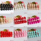 24Pcs Beauty Short French Fake Nails Full Cover European Simple Manicure Cold