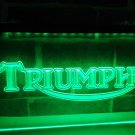 Triumph Motorcycles Services Repairs Neon Sign Home Decor Crafts Pub Bar Signs