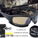 Mens Military Goggles Bullet Proof Army Polarized Sunglasses 4 Lens Men Hunting