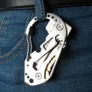 Multifunction EDC Tool Stainless Steel Key Holder Organizer Clip Folder Keyring