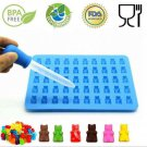 Gummy Bear Mold Fashion Kitchen Tools 1 Set 50 Cavity Silicone Chocolate Mould