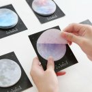 Cute Kawaii Sticky Paper Star Memo Pad Space Planet  Notes For Students Gift