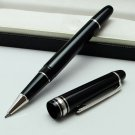 New MB #145 Rollerball Pen black resin Platinum Clip