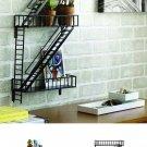 Wall Art Display Shelf shelves Fire Escape Home decor Storage Steel Rack Curio