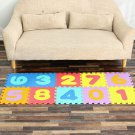 0-9 Math Pattern EVA Foam Floor Jigsaw Puzzle Toy Mat for Living Room Bathroom Kitchen