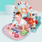 76*56*43CM 2 IN 1 Multi-functional Baby Gym with Play Mat Keyboard Soft Light Rattle Toys for Baby G