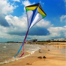 26''30'' Diamond Delta Kite Outdoor Sports Toys For Kids Single Line Blue Toys