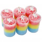 Multi-color Cotton Mud Slime Unicorn Fluffy Cloud Marshmallow 120ml Decompression Toys