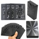 Black Matte Plastic Poker Cards Waterproof PET Waterproof Playing Cards Toys