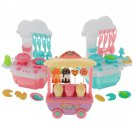 Kid Play House Toy Kitchen Cooking Pots Pans Food Dishes Cookware Toys