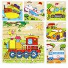 Children Cartoon Puzzle Blocks Colorful Educational Wooden Kids Toys