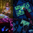 PVC Draw With Light In Darkness Sketchpad Toys Gift Luminous Drawing Board