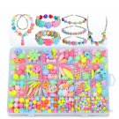 Pop-Arty DIY Beads Girl Necklace Bracelet Jewelry Set With Box Snap-Together Pop Jigsaw Puzzle Toy G