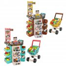 Children Play House Kitchen Simulation Toys Scanner Credit Card Machine Trolley Shopping Trolley Cas