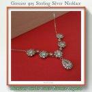 Hallmark 925 Sterling Silver Necklace With Premium Grade Cubic Zirconia Crystals