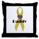 Custom (Yellow Ribbon) Throw Pillow