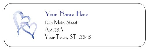 Love Hearts Address Label - PROFESSIONALLY Printed