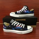 Hand Painted Shoes Converse Galaxy Low Top Canvas Sneakers Men Women Unique Christmas Gifts