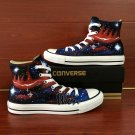 Custom Converse All Star Shoes Galaxy Hand Painted Canvas Sneakers High Top Fashion Casual Shoes