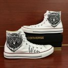 Custom Converse Shoes Owl Hand Painted Shoes High Top White Canvas Sneakers Men Women Gifts