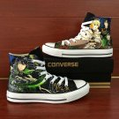 Anime Converse Shoes Seraph of The End Hand Painted Shoes High Top Canvas Sneakers Christmas Gifts