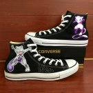 Custom Converse Shoes Pokemon Mew Mewtwo Hand Painted Canvas Sneakers Custom Design Unique Gifts