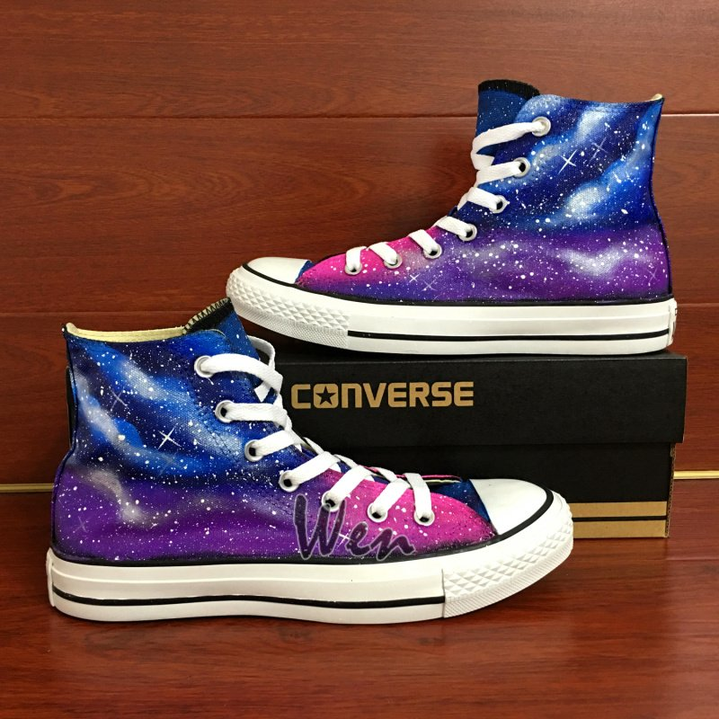 Men Women Converse Shoes Galaxy Nebular Custom Hand Painted Canvas Sneakers Christmas Gifts