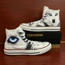 Original Design Snow Wolf Converse Hand Painted Shoes High Top Fashion Canvas Sneakers Gifts
