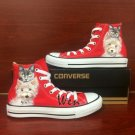 Hand Painted Shoes Converse All Star Pet Dog Cat Red Hhigh Top Canvas Sneakers Men Women Gifts