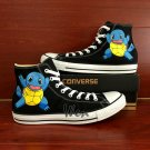 Converse All Star Pokemon Squirtle Shoes High Top Hand Painted Canvas Sneakers Gifts Boys Girls