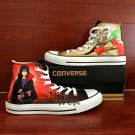 Naruto Converse Shoes Jiraiya Uchiha Itachi Sharingan Custom Hand Painted Canvas Sneakers Gifts